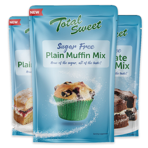 Sugar free cake & muffin mixes now available