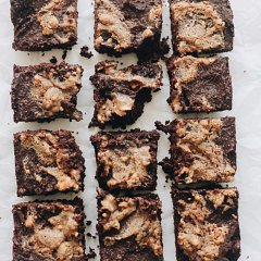 xylitol peanut butter brownies